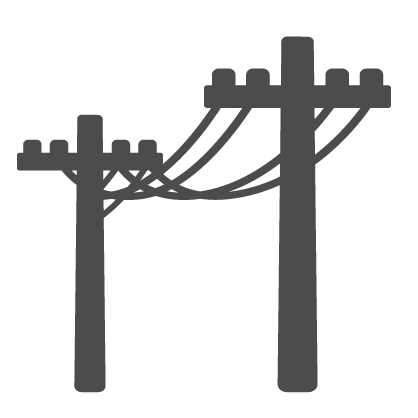 Graphic of power poles